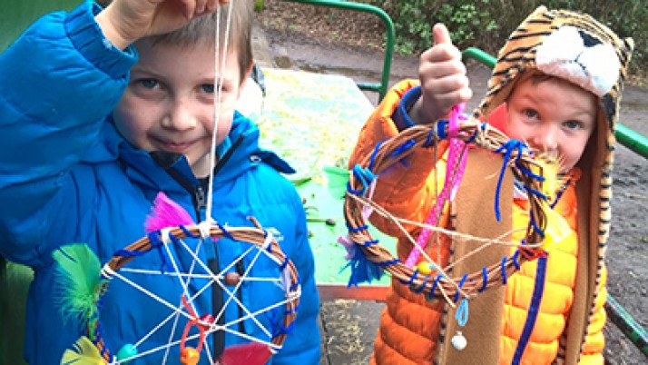 Willow Weaving Gets Children Back to Nature